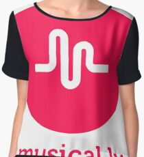 musical.ly musically Women's Chiffon Top