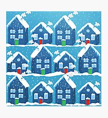 Winter In The Village Photographic Print