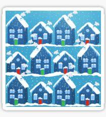 Winter In The Village Sticker