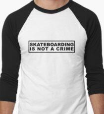 Skateboarding Is Not a Crime Men's Baseball ¾ T-Shirt