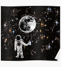 Space Night Lights Poster