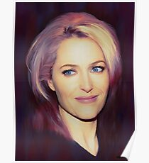 Gillian Anderson oil color painting  Poster