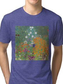 Gustav Klimt - Flower Garden, 1905-07 Tri-blend T-Shirt