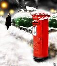 Traditional Christmas Illustration: Red Post Box in Snow [Soft Mix] by Grant Wilson