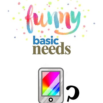 Funny basic needs by vicentbeneito