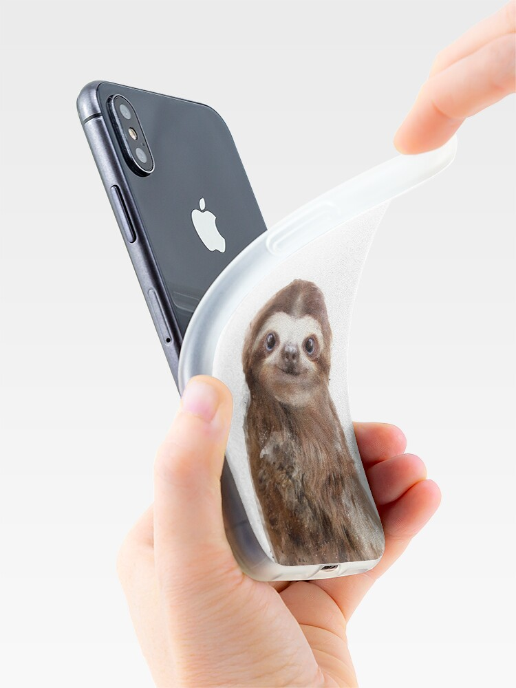 Alternate view of Little Sloth iPhone Case & Cover