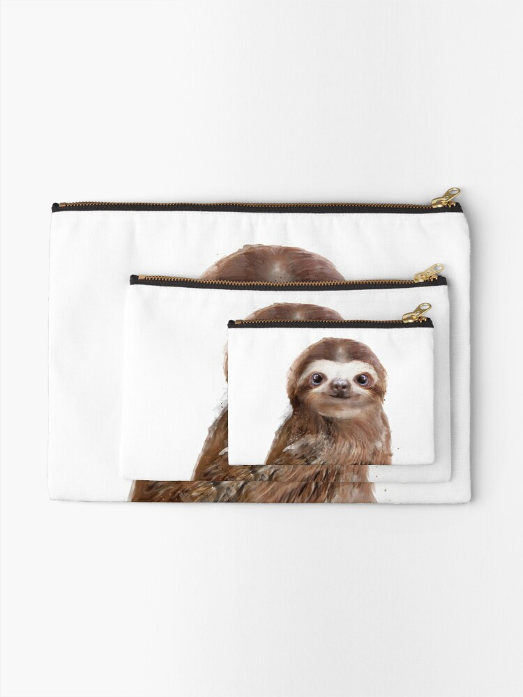 Alternate view of Little Sloth Zipper Pouch