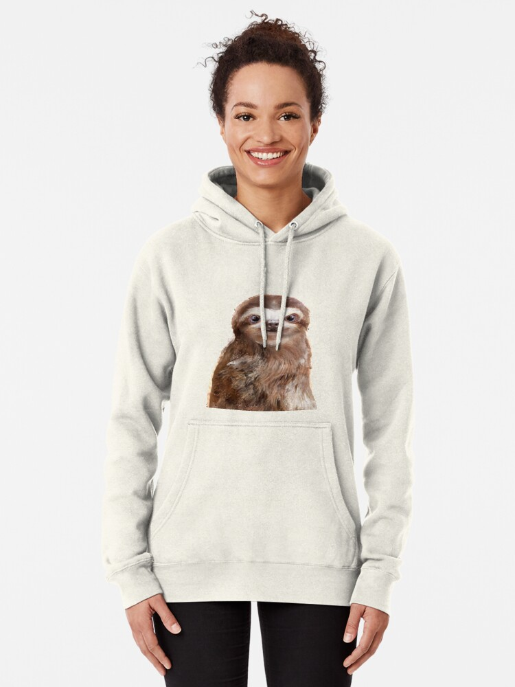 Alternate view of Little Sloth Pullover Hoodie