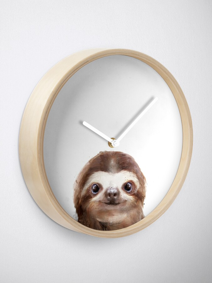 Alternate view of Little Sloth Clock