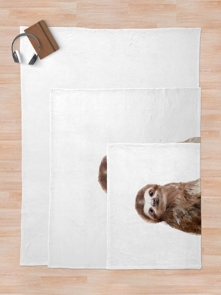 Alternate view of Little Sloth Throw Blanket