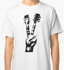 Peace Sign Guitar Fingers Classic T-Shirt