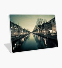 Amsterdam Canal Street view at Night Laptop Skin