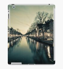 Amsterdam Canal Street view at Night iPad Case/Skin
