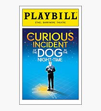 Curious Incident of the Dog in the Night Time Playbill Photographic Print
