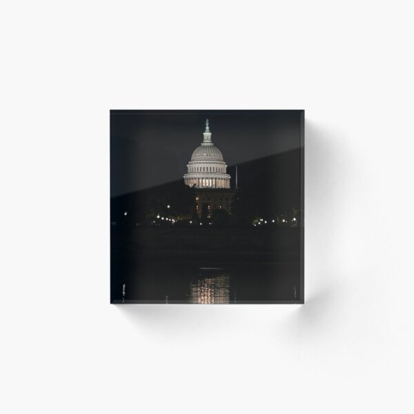 A Capitol Evening Acrylic Block