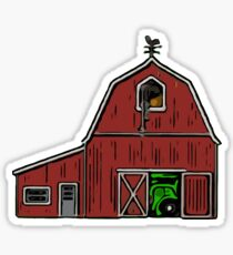 Farm House with Tractor  Sticker