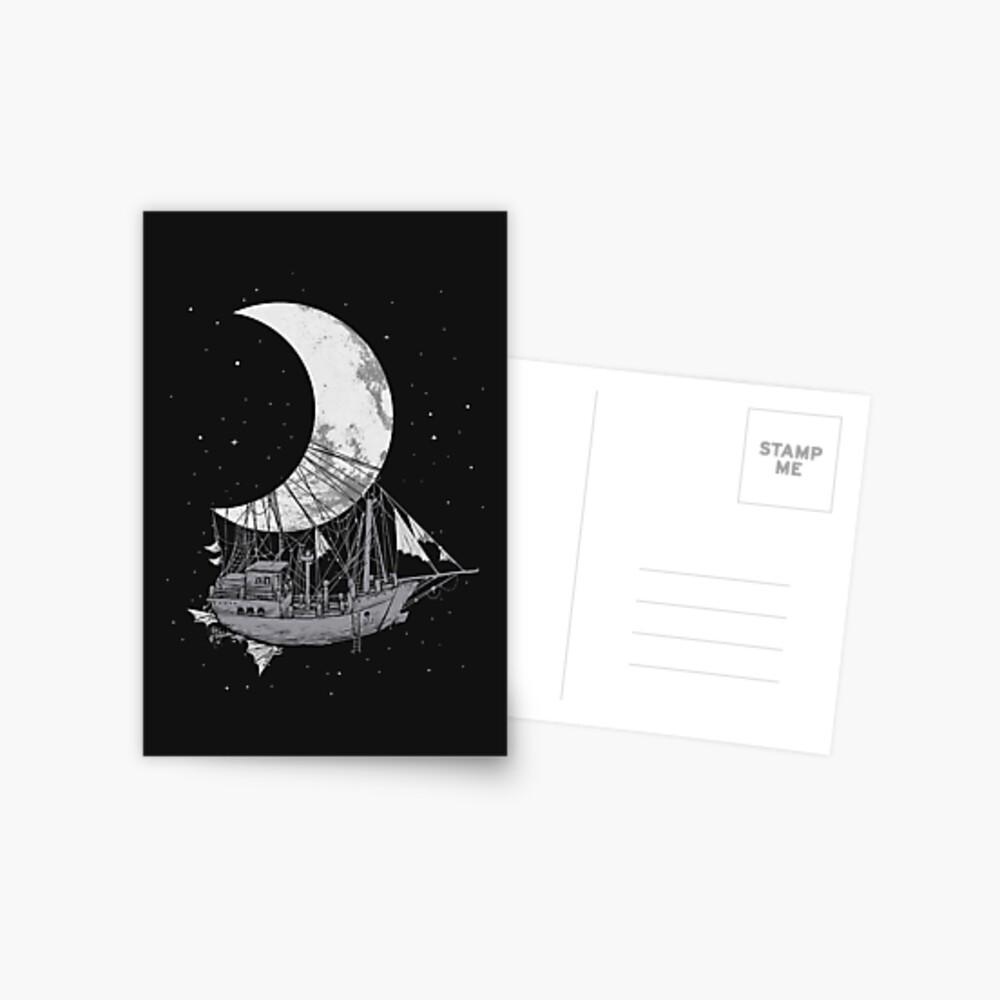 Moon Ship Postcard