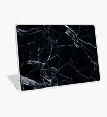 Schwarzer Marmor Laptop Skin