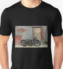 Indian Chout at the old Okains Bay Garage Unisex T-Shirt