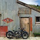 Indian Chout at the old Okains Bay Garage by Frank Kletschkus