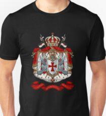 Knights Templar - Coat of Arms over Black Velvet Unisex T-Shirt
