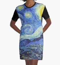 Vincent van Gogh - Sternennacht T-Shirt Kleid