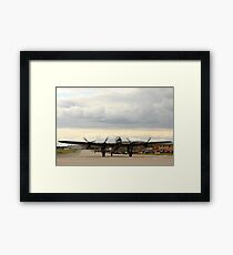 Canadian Lancaster at RAF Waddington Framed Print