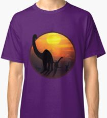 Sauropod Dinosaurs at Sunset Classic T-Shirt