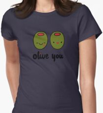Olive You  Women's Fitted T-Shirt