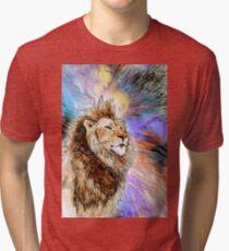 Thoughtful lion - a world of imagination Tri-blend T-Shirt