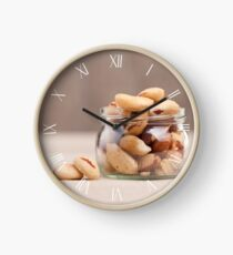 Brazil nuts from Bertholletia excelsa Clock