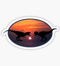 Tyrannosaurus - Sunset Showdown Sticker