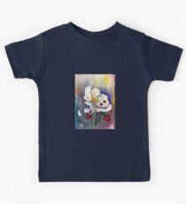 Strawberry - White Flowers - Original Watercolor Painting Kids Tee
