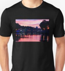 Impressions of Rome - Tiber River Silky Current in Pink and Purple T-Shirt