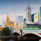 Princes Bridge, Melbourne, Victoria, Australia by Michael Boniwell