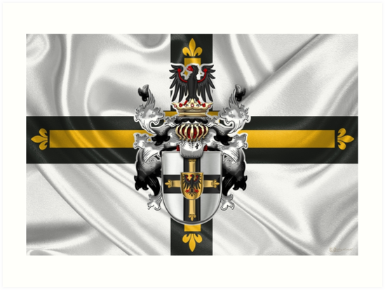 7e823251d Teutonic Order - Coat of Arms over Flag