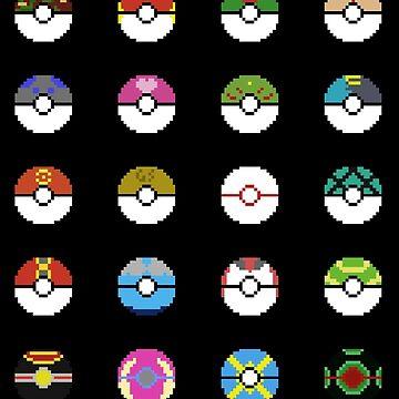 Pokeballs Pixel Art by Natios