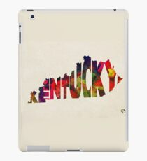 Kentucky Typographic Watercolor Map iPad Case/Skin
