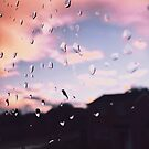 Rain Splattered Sunset by lolohannah