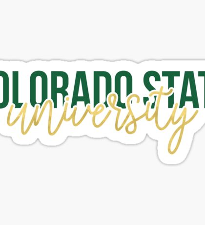 Colorado State University - Style 13 Sticker