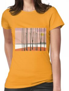 Misty Sunrise Womens Fitted T-Shirt