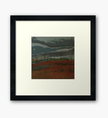 travelling home from northumberland Framed Print