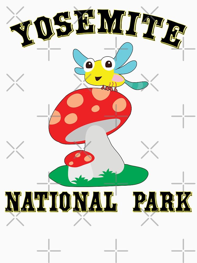 YOSEMITE NATIONAL PARK CALIFORNIA CUTE BUG MUSHROOMS HIKING CAMPING HIKE CAMP  by MyHandmadeSigns