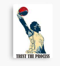 embiid trust the process Canvas Print