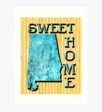 Sweet Home Alabama Typographic Map Art Art Print