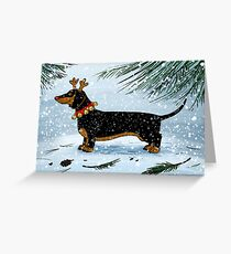 A Very Dachsie Christmas Greeting Card