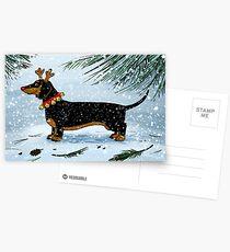 Ein sehr Dachsie Weihnachten Postkarten