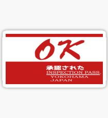 OK Datsun/Nissan Inspection Pass Decal Sticker