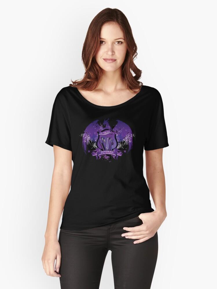 Dragon Age Fan Art Group Logo Women's Relaxed Fit T-Shirt Front