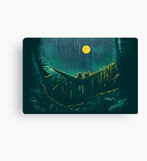 With the wolf in the woods - where the wild things are Canvas Print